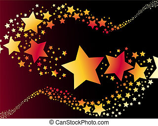 shooting star vector illustration