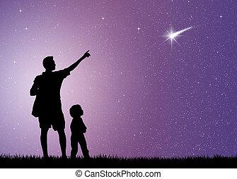 shooting stars - illustration of shooting stars