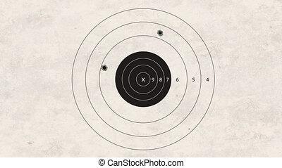 shooting target fail - gun shoot to the shooting target...
