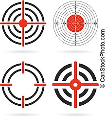 Shooting target vector icons set