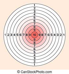 Shooting Target Vector. Paper Shooting Target For Shooting...