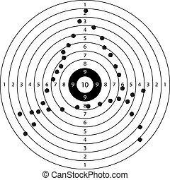 anarchy - shooting target with anarchy symbol