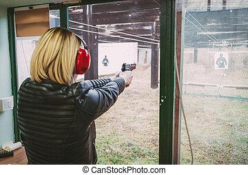 Shooting With Gun