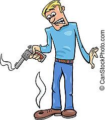 shooting yourself in the foot cartoon - Cartoon Humor...
