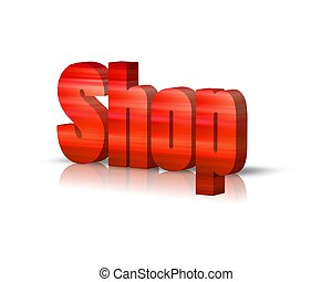 shop 3d word