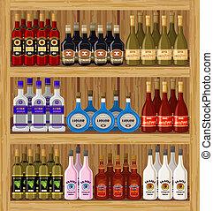 Shop alcoholic beverages.