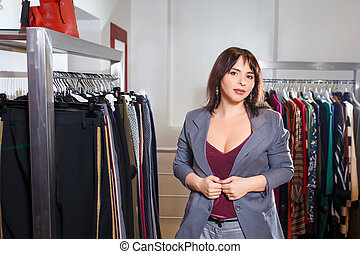 shop assistant in the store
