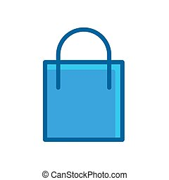 shop bag blue icon vector illustration isolated on white background