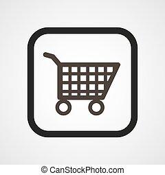 Shop Basket Icon Flat Vector illustration