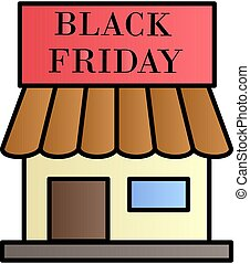 Shop, black friday color gradient vector icon