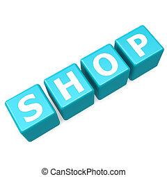 Shop blue puzzle