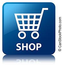 Shop blue square button