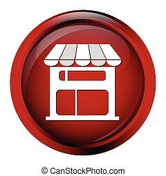 Shop building icon, Store button