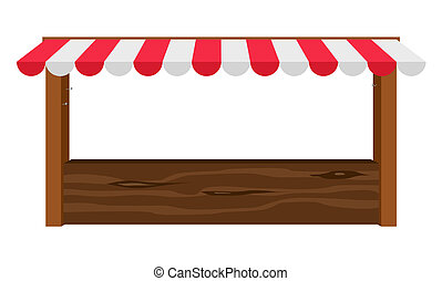 Shop canopy - Empty wooden counter with canopy