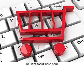 Shop cart icon on keyboard