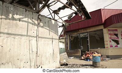 Shop destroyed in war