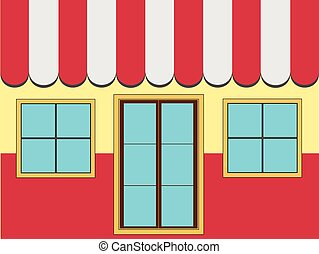 Shop Facade (Vector) - An illustration of a shop facade