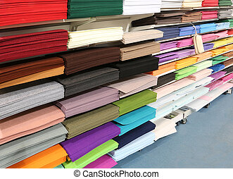shop for tailors and hobby full of fabrics and felts