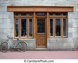 Shop - French shop front - blank