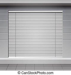 Shop Front. Exterior horizontal win
