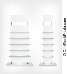 Shop glass shelves white
