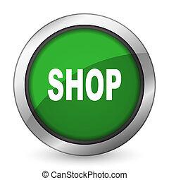 shop green icon