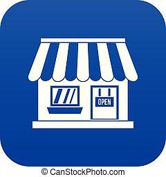 Shop icon digital blue