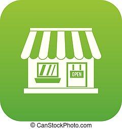 Shop icon digital green