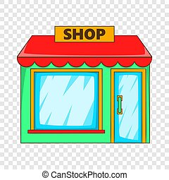 Shop icon, flat style