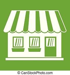 Shop icon green