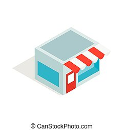 Shop icon, isometric 3d style