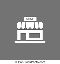 Shop icon on a dark background