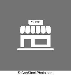 Shop icon on a dark background