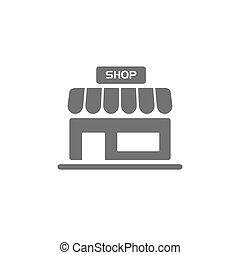 Shop icon on a white background