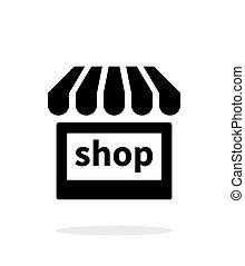 Shop icon on white background.