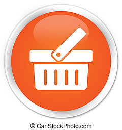 Shop icon orange button