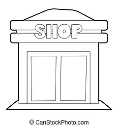 Shop icon, outline style