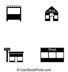 shop icon set