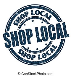 Shop local sign or stamp
