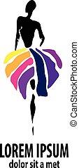 shop logo, fashion girl