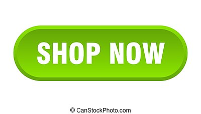 shop now button. rounded sign on white background
