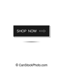 Shop now button template. E-commerce button, Vector illustration
