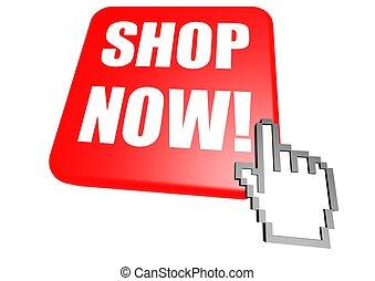 Shop now button with cursor