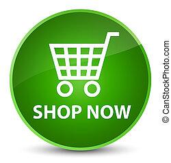 Shop now elegant green round button