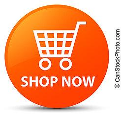 Shop now orange round button