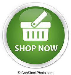Shop now premium soft green round button