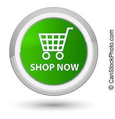Shop now prime green round button