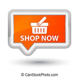 Shop now prime orange banner button