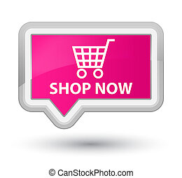 Shop now prime pink banner button