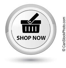 Shop now prime white round button